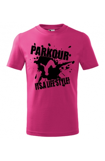 Dětské tričko Parkour je můj život 1948d6914b