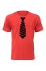 Pánské tričko s pruhovanou kravatou