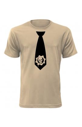 Pánské tričko s kravatou Gears
