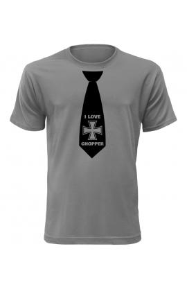 Pánské tričko s kravatou I Love Chopper