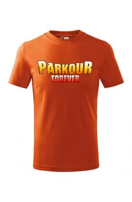 Dětské tričko s potiskem Parkour Forever