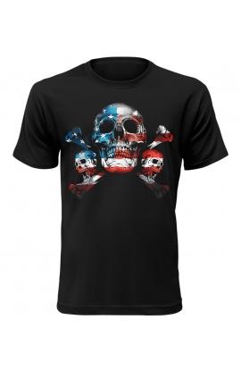 Pánské tričko s motivem amerických lebek