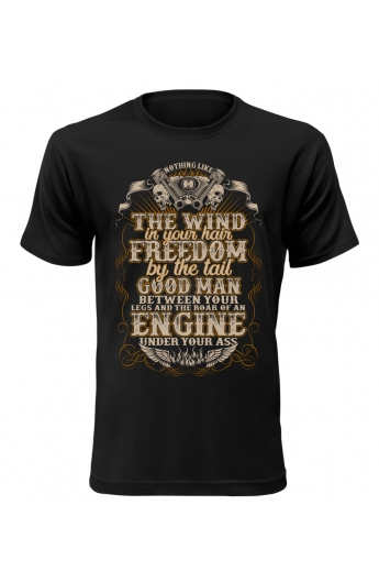 Pánské motorkářské tričko Freedom