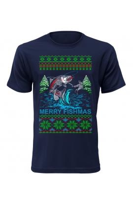 Pánské vánoční tričko pro rybáře