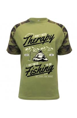 Pánské tričko s rybářským motivem theraphy