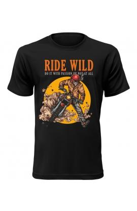 Pánské motorkářské tričko Ride Wild