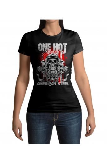 76686d85bf32 Dámské moto tričko American Steel