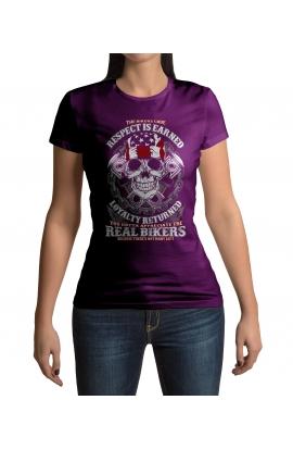 Dámské motorkářské tričko Real Bikers