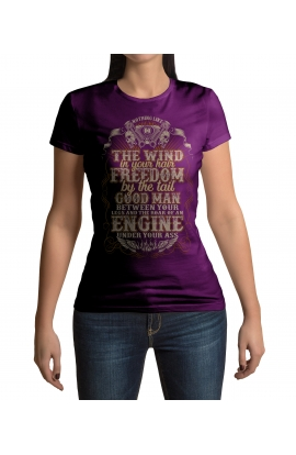 Dámské motorkářské tričko Freedom