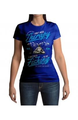 Dámské tričko s rybářským motivem theraphy