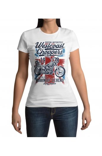 Dámské motorkářské tričko Westcoast Choppers 1978