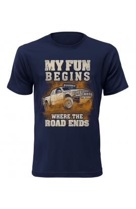 Pánské automobilové tričko My Fun Begins