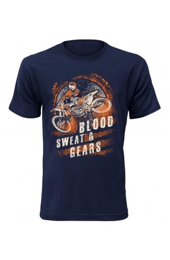 Pánské motorkářské tričko Blood Sweat