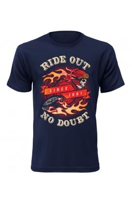Pánské moto tričko Ride Out No Doubt
