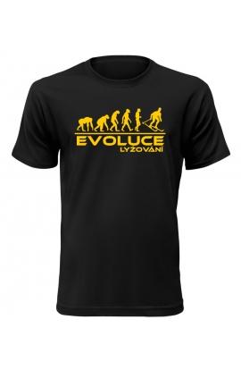Pánské tričko Evoluce Lyžování