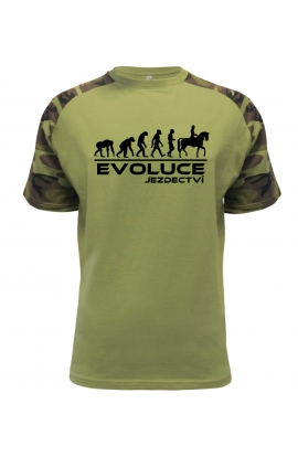 Pánské tričko Evoluce Jezdectví