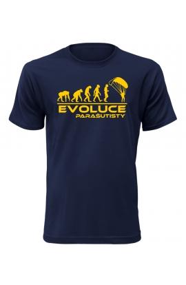 Pánské tričko Evoluce Parašutisty