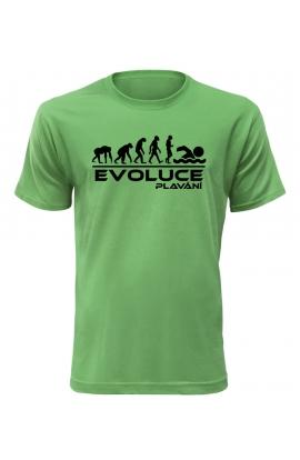 Pánské tričko Evoluce Plavání