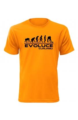 Pánské tričko Evoluce Curlingu